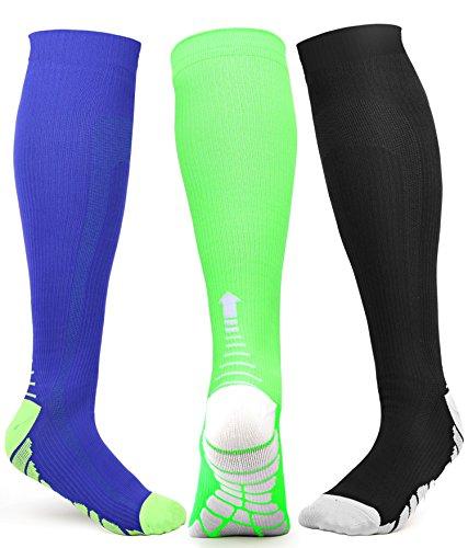 mpression Socken Herren Damen Socken Athletic für Run, Basketball, Fußball, Reisen, 20-30mmHg, Herren, Color-2, Small/Medium ()