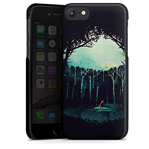 Apple iPhone X Silikon Hülle Case Schutzhülle Wald Art Forest Hard Case schwarz