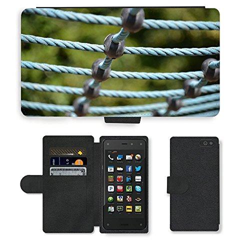 PU Leder Wallet Case Folio Schutzhülle // M00290394 Spielplatz Turngeräte // Amazon Fire Phone