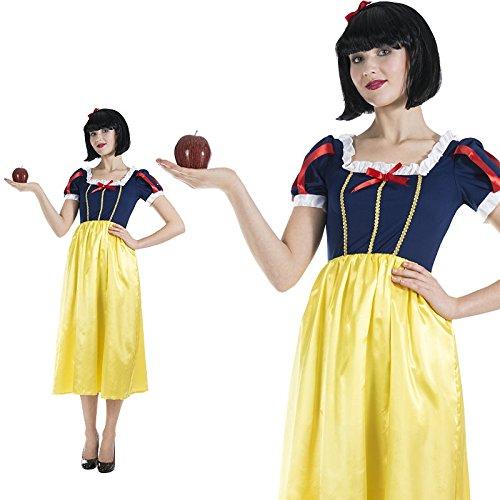 Schneewittchen Blau Gelb Zeichentrickfilm Märchen Kostüm Damen