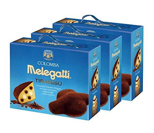 Colomba Tiramisù Melegatti, Colomba Pasquale Enriched with Mascarpone Cream, Coffee Preparation and Cocoa Powder, 750 g