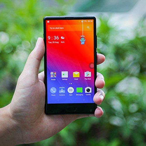 Doogee MIX 13,97 cm (5,5 Zoll) Smartphone (6GB RAM 64GB ROM Android 7.0 4G Helio P25 Octa-Kern 2,5 GHz Metallgehäuse Berührungssensor Front- und Doppel Rückkameras) Blau - 5