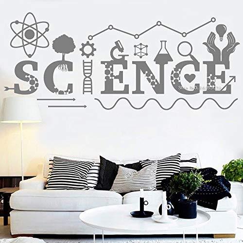 daufkleber Phantasie Wissenschaft Zitate Wandtattoo Kunstwanddekor Chemie Instrument Klassenzimmer Aufkleber Junge Schlafzimmer Aufkleber 42 * 101 cm ()