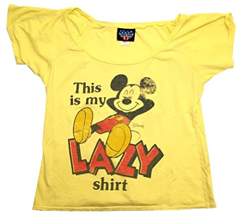 Mickey Mouse This Is My Lazy Shirt Junk Food Boat