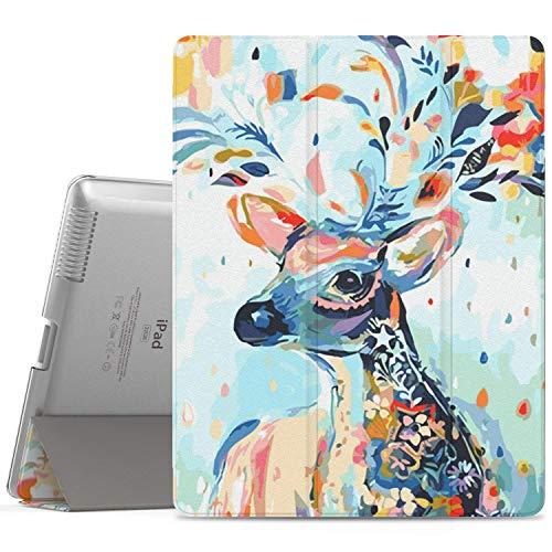 MoKo Hülle für iPad 2/3 / 4 - PU Leder Tasche Schale Smart Case mit Translucent Rücken Deckel, mit Auto Schlaf/Wach Funktion und Standfunktion für Apple iPad 2/3 / 4 9.7