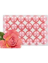 Boîte de 24 perles d'huile de bain - Rose nacré