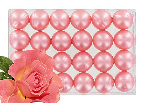 Scatola di 24olio da bagno Pearls Pearly rose