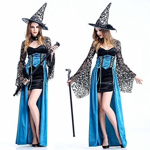 Crazy Sell Damen Schwarz Witch Weihnachten Party Kostüm Fancy Anime Cosplay Party Kleider (Kostüme Pitbull)