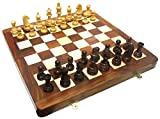 """Ages Behind Wooden Chess 18"""" with Weighted Coins 95 mm Home Decor Gift"""