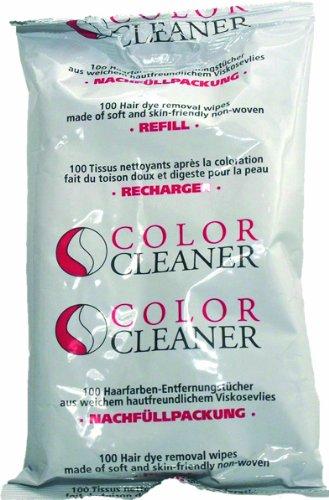 Coolike Color Cleaner Haarfarben-Entfernungstücher aus Viskosevlies 11404, Nachfüllpackung mit 100 Tüchern