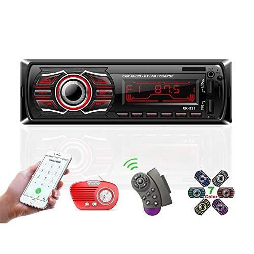 TOYOUSONIC Autoradio Bluetooth Llamadas Manos Libres Radio Coche1 DIN