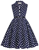 GRACE KARIN Retro Revers Rockabilly Party Kleid 6-7 Jahre CL9000-2