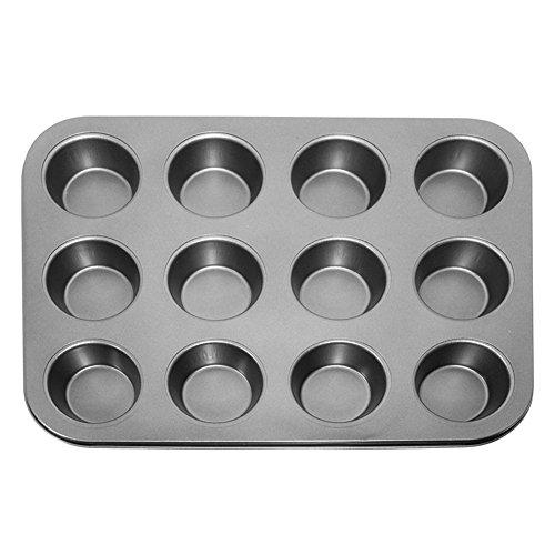 Cup 12 Muffin Pan (valink Backen 12Cup Muffin Tablett, Master Class Antihaft-12-hole Cupcake-Tablett/Backform, Metall Pfanne Backform Form Bakeware–35x 26cm (35,6x 25,4cm))