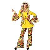 Hippie Kostüm Hippiekostüm Damen XXL 50/52 70er Jahre Anzug Flower Power Damenkostüm 60er Jahre Damenanzug Peace Faschingskostüm Woodstock Karneval Kostüme bunt