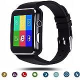 Tagobee TB01 Bluetooth Smart Uhr mit Sim-Karte Kamera 2018 Upgrade HD Screentouch Smart Armbanduhr Facebook WhatsApp Benachrichtigung Funktionen kompatibel mit allen Android Smartphones und iPhone (Teilfunktion)schwarz