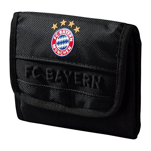 Porte-monnaie FC Bayern München Noir + autocollant-gratuit sac/sac/monedero/Purse/bourse Munich, de l'argent Sac Porte-monnaie, Portefeuille