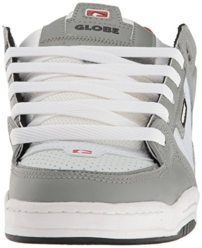 Globe Fusion Hommes Cuir Chaussure de Basket Grey-White-Red