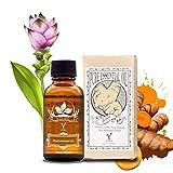 Huile Essentielle de Gingembre Naturel Huiles de massage,Pour Se Relaxer Drainage lymphatique 30ML