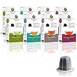 Gourmesso Infusion Box – 80 Nespresso kompatible Teekapseln – 4 verschiedene Geschmacksrichtungen