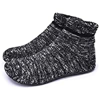 Dream Bridge Womens Non-Slip Knit Slipper Socks Cosy Indoor Floor Work Socks with Rubber Soles