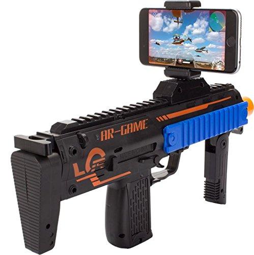 The Accessory Outlet AR Juego y acción de Disparo Pistola-Realidad Aumentada (Incluye iOS/Android Enlace para AR 15-Games-in-1Descarga)