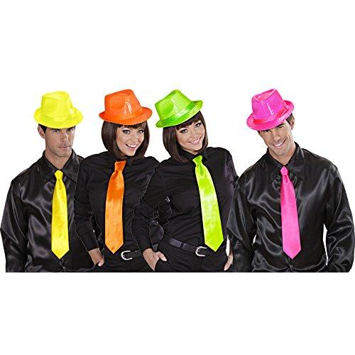 Unbekannt Aptafêtes-ac1268-Krawatte Satin Neon Farben - Kostüm Soiree Disco