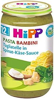 HiPP Pasta Bambini - Tagliatelle in Spinat-Käse-Sauce, 6er Pack (6 x 250 g)