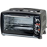 Oypla 26 Litre Electrical Mini Compact Oven Kitchen Mate c/w 2 Hot Plates And Grill