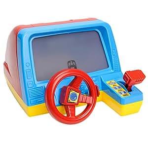 simulateur de conduite jeu pour enfants avec volant change et cran avec mouvement let 39 z play. Black Bedroom Furniture Sets. Home Design Ideas