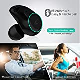MYCARBON Truly Wireless Headphones V4.2 Bluetooth Headphones Noise Cancelling Wireless Earphones IPX5 Waterproof Wireless Earbuds Stereo Headsets with Mic for iPhone,Android,Windows with Charging Box