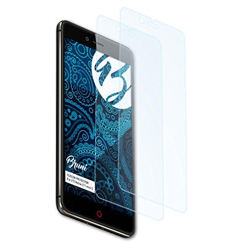 Bruni Schutzfolie kompatibel mit ZTE Nubia Z11 Mini S Folie, glasklare Bildschirmschutzfolie (2X)