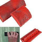 Ocamo Imitation Wood Grain Paint Roller Brush (3x6-inches) -Set of 2