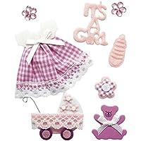 RAYHER HOBBY 58431000decorativo de bebé niña con pegar, bolsa de 8unidades