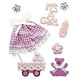 Rayher Hobby 58431000  Deko-Sticker Baby Mädchen mit Klebepunkt, SB-Beutel 8 Stück