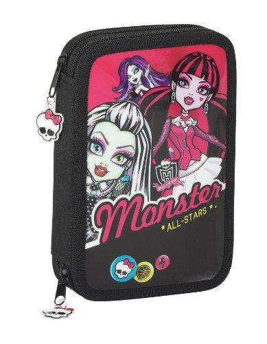 Monster High Federtasche Monster High Federmappe Schüler Etui gefüllt (High Monster Bleistifte)