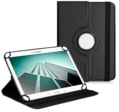 Premium Universal-Hülle für Tablet-PC Acer Iconia A1-810 8 ZOLL mit DREHFUNKTION und HALTER / STÄNDER-FUNKTION Schutz-Case Flip-Tasche Cover Schwarz