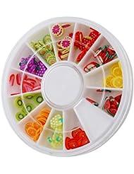 ODN 3D Onlges Autocollant Canes Fimo Manucure Decoration Fruit