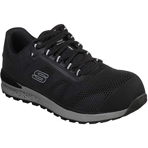 Composite-toe Sneaker (Skechers Herren Bulklin Lyndale Sneaker, Schwarz (Black Blk), 44.5 EU)