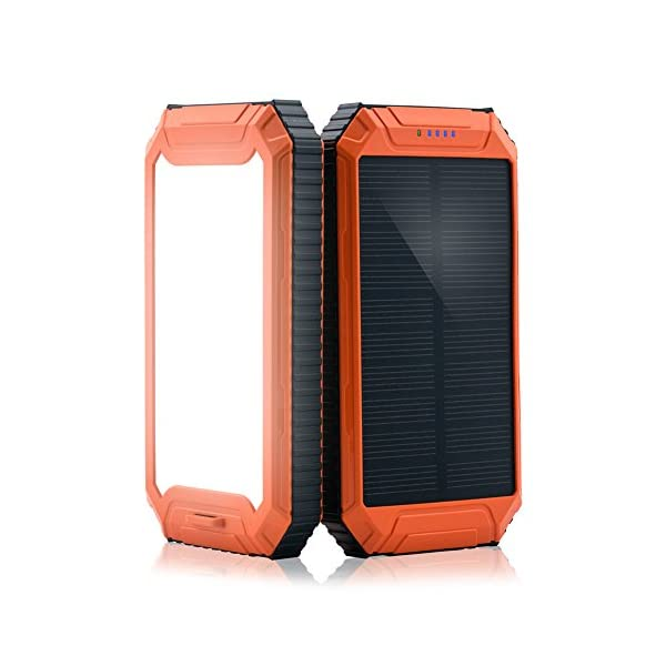 PowerGreen Power Bank Solar Charger with 32LED Flashlight 10000mAh Solar Power Bank Dual USB External Battery Pack for 5V Digital Mobile Devices 1