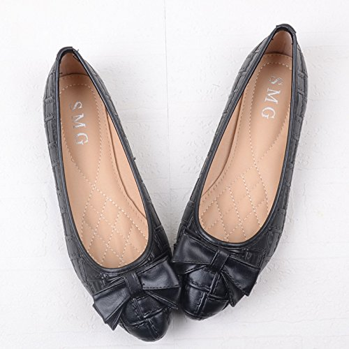 WYMBS Nouveau ressort chaussures dames en bouche peu profonde a souligné les chaussures plates chaussures chaussures chaussures unique télévision occasionnels chaussures grande taille unique apricot