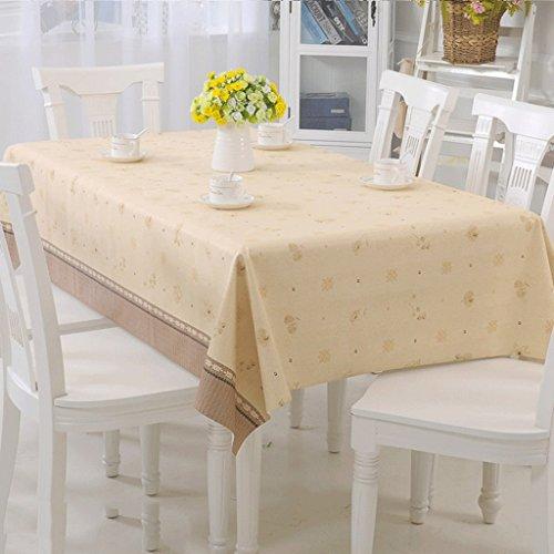 ASL Nappe composite en PVC imperméable à l'eau imperméable à l'huile Rectangle table chiffon table chiffon sélectionner (Couleur : B, taille : 138 * 190cm)