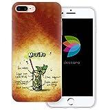 dessana Cocktail Rezepte Transparente Silikon TPU Schutzhülle 0,7mm Dünne Handy Tasche Soft Case für Apple iPhone 8 Plus Mojito