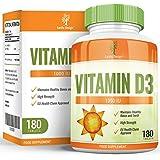 Vitamine D3 1000 IU - Vit D Cholécalciférol Haute Concentration - Comprimé Haute Absorption - Pour Hommes et Femmes...