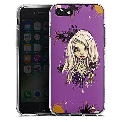 Apple iPhone X Silikon Hülle Case Schutzhülle Comic Girl Mädchen Silikon Case transparent