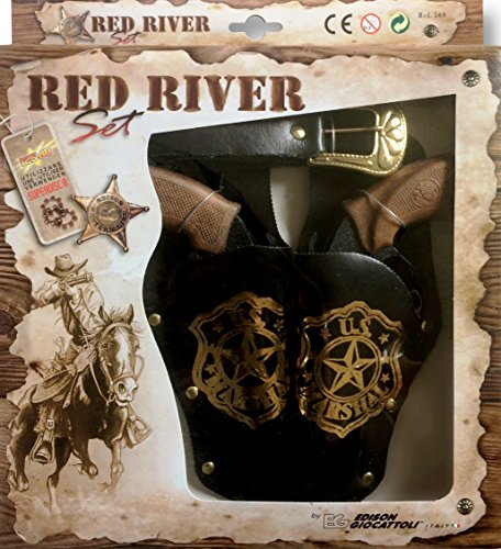 Edison 8025056 - Red River Set, 2 Halfter mit 2 Revolvern