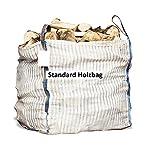 Hochwertiger Holz Big Bag speziell für Brennholz * Woodbag, Holzbag, Zwiebelsack * 100x100x120cm * Holz trocknen + transportieren 5 Stück