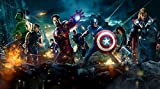 Comic Hero Affiche Film Wall Sticker Hd Avengers Union Salon Chambre Bar Décoration (H) 400 * (W) 280cm un