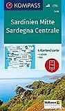 Carta escursionistica n. 2498. Sardegna Centrale 1:50.000 (set di 4 carte): 4 Wanderkarten 1:50000 im Set inklusive Karte zur offline Verwendung in der KOMPASS-App. Fahrradfahren.