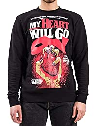Cheap Monday Felpa Uomo Worth Heart Poster Sweat 18aqrw1