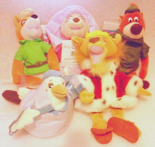 Out of Production Disney Robin Hood Plush Bean Bag Set with Robin Hood, Maid Marian, Lady Kluck, Prince John, and Little John by Disney (Robin Hood Maid Marian)